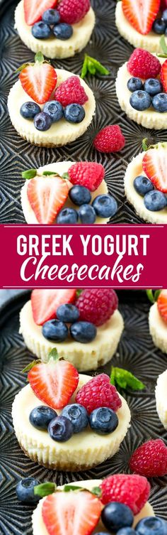 Greek Yogurt Cheesecake Recipe | Mini Cheesecakes | Healthy Cheesecake Recipe | Light Cheesecake Recipe
