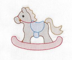 Shadow Work & Embroidery :: Babies :: Shadow Rocking Horse
