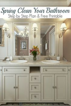 The grout is a mess, you can barely see in the mirror and the medicine cabinet is overflowing. It's time for spring cleaning your bathroom! Clean Bathroom Grout, Bathroom Cleaning, Home Design, Deep Cleaning, Cleaning Hacks, Decoration Bedroom, Interiors Magazine, Diy Interior, Minimalist Home