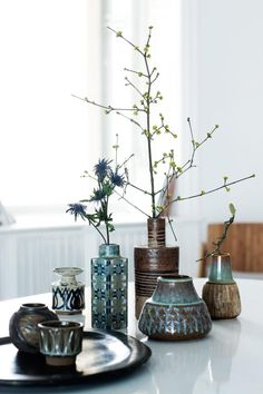 Vases from Royal Copenhagen and Søholm (Photo© Tia Borgsmidt) http://www.klikk.no/bonytt/inspirasjon/article787777.ece