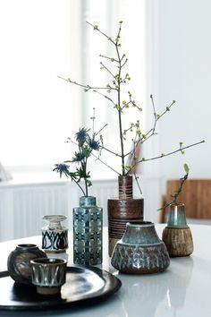 Vases from Royal Copenhagen and Søholm (Photo© Tia Borgsmidt) http://www.klikk.no/bonytt/inspirasjon/article787777.ece
