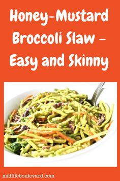 Midlife Boulevard featured my favorite low calorie broccoli slaw today on their  wonderful site. To get this yummy recipe click here: http://midlifeboulevard.com/weight-watchers-broccoli-slaw-recipe/