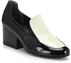 Robert Clergerie Mony Colorblock Patent Leather Loafers in Black (black-ivory) | Lyst