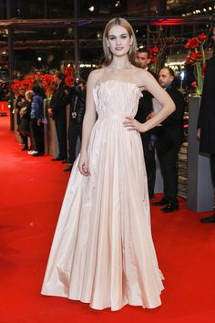 Lily James in Christian Dior at the Cinderella premire at the Berlin Film Festival