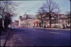 Historic thoroughfare in Warsaw, Poland, fot. John William Reps (1960's)