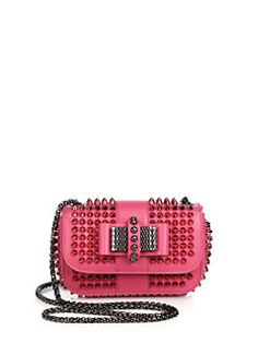 Christian Louboutin - Sweety Charity Spike-Studded Crossbody Bag