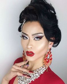 Last nights face for the Rupaul's Drag Race premier party ❤️✨ Hair by @harletwench , Makeup by yours truly #evayoung #drag #dragqueen #rupaulsdragrace #rpdr #asian #makeup #mua #beauty #beautiful #chicago #gay #instagay #hair #wig #boy #girl #love #instagood #instadaily #jewelry #lips #me #chinese #fashion