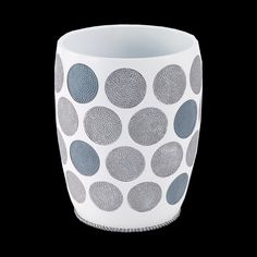 Dotted Circles Trash Can