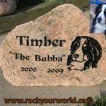 engraved dog portrait stone