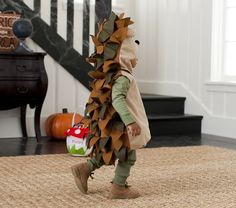 Baby Hedgehog Costume could be made at home with a tan or brown hoodie and lots of felt.