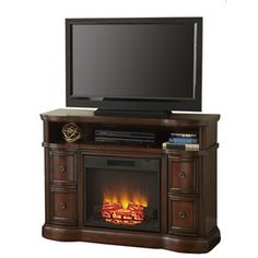 Style Selections 48-in W 4,800-BTU Mink Wood Fan-Forced Electric Fireplace with Remote Control