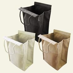 reuseit Made in USA Lightweight Recycled Cotton Lunch Bag, Medium and Large