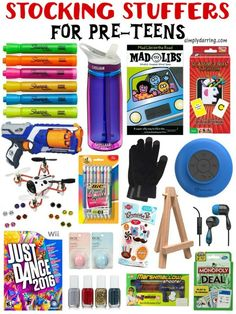 Pre-Teens can be hard to shop for, check out this awesome list of stocking stuffers for both boys and girls! Great Christmas gift ideas.
