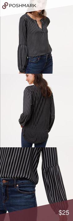 LOFT LANTERN BLOUSE Loft blouse used twice. LOFT Tops Blouses