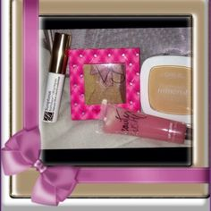 """✨ VS & Misc Make-Up Bundle !!! ✨  ✨ VS & Misc Bundle !!! ✨ ALL ITEMS ARE BRAND NEW!!! This Bundle Includes: Estée Lauder Mascara in Black, a Victoria's Secret Eyeshadow Quad, Victoria's Secret Beauty Rush in Candy, Oooo, and A L""""OREAL TRUMATCH Minerals Pressed Facial Powder✨ Victoria's Secret Makeup"""