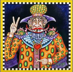 Peace Man, Hand-Stretched Giclee on Canvas, signed and numbered | The Jamie Hayes Gallery