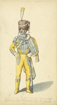 Kingdom Of Naples. Officer of the Guard Hussars 1810-12