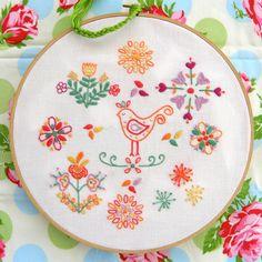 embroidery samplers | Summer Embroidery Sampler | Felt