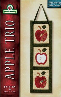 Wall Hanging Apple Trio Pattern by GabbysQuiltsNSupply on Etsy, $8.50