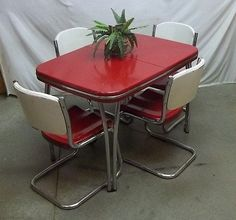 50s arvin metal table chair dining room dinette set lawn patio kitchen furniture