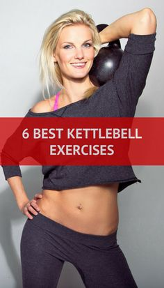The only 6 Kettlebell exercises you'll ever need to burn more fat and pack on more muscles. #kettlebell #fitness #workout
