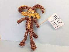 Rainbow Loom WILE E. COYOTE. Designed and loomed by Looming WithCheryl. Click photo for YouTube tutorial. 06/02/14.