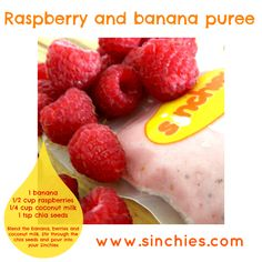 Raspberry and Banana Puree #banana #raspberries #coconutmilk # ...