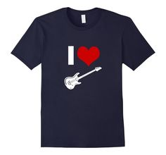 Amazon.com: I Heart Love Electric Guitar Silhouette Band Rocker Musician T-Shirt: Clothing