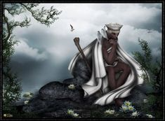 OBATALÁ: It is the kind father of all orishas and humanity. He is also the owner of all heads. Although it was Olorun which created the universe, Obatala was the creator of the world and humanity.Obatala is the source of all that is pure, wise, gentle and compassionate. However, he has a warrior aspect through which imposes justice in this world.Its color is white, which is sometimes given enhancement with red, purple or other colors to differentiate their separate ways.