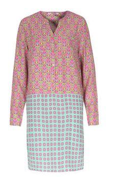 Dress #easy-to-wear #eye-catcher #fun #mint-tile-print #pink-blossom #retro-chic