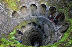 The Inverted Tower - Sintra, Portugal. Quinta da Regaleira
