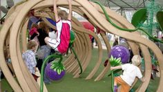 Interactive play zone for children at Kew Gardens? Work with ecobaord creatives to make temporary skeleton for under 5's to explore