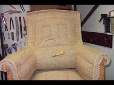 Rabattage d'une toile d'embourure tapissier - YouTube
