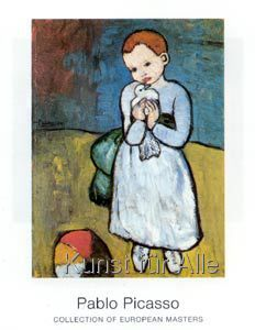 Pablo Picasso - Child with Dove 1901 - Oil on Canvas cm - London. One of the artist's earliest works painted when he was around 19 Kunst Picasso, Pablo Picasso Drawings, Art Picasso, Picasso Paintings, Painting Frames, Painting Prints, Art Prints, Cubist Movement, Canvas Art