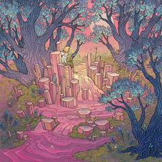 nimasprout - Art by Nicole Gustafsson: Last Breath of Summer - PRISMA Collective Group Show at Subtext Gallery
