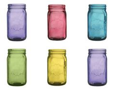 24 oz colored mason jars - pink [24 oz pink vintage mason jars