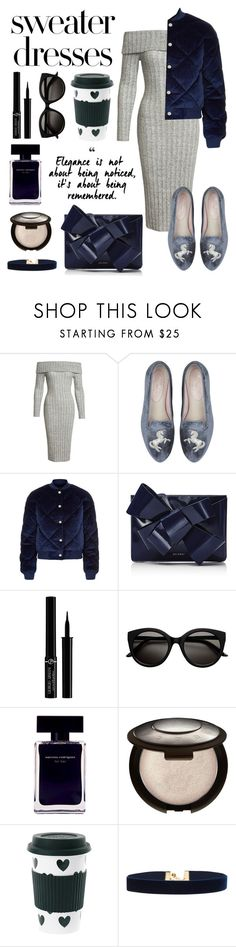 """""""Comfortable dress"""" by jus-dorange ❤ liked on Polyvore featuring Sans Souci, Maje, Delpozo, Giorgio Armani, Narciso Rodriguez, Miss Étoile and Vanessa Mooney"""