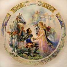 Guinevere and Lancelot Painting Lancelot And Guinevere, Medieval Life, Fairytale Castle, Pre Raphaelite, Conte, Wizards, Merlin, Goddesses, King Arthur