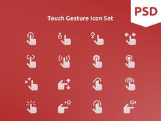 Touch Gesture Icon Set