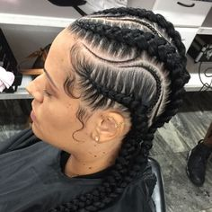Pictures Of Cornrow Braids Idea 145 best cornrow braids hairstyles fashiongram Pictures Of Cornrow Braids. Here is Pictures Of Cornrow Braids Idea for you. Pictures Of Cornrow Braids cute looking cornrow braids hairstyles clickst. Feed In Braids Hairstyles, Braided Hairstyles For Black Women, Braids For Black Hair, Hairstyle Braid, Dope Hairstyles, Hairstyle Ideas, Hair Ideas, Cornrow Braid Styles, 4 Braids Cornrows