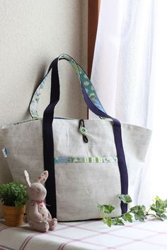 free pattern - Round-bottom tote