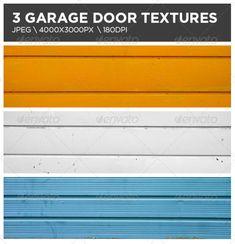 3 Garage Door Textures — Photoshop PSD #rusted #worn • Available here → https://graphicriver.net/item/3-garage-door-textures/3921942?ref=pxcr