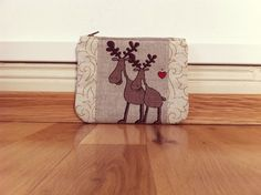 "Makeup Bags – Mini bag ""Moose in Love"" – a unique product by ChukOlade on DaWanda"