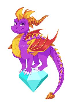 by Krysiilys on DeviantArt Childhood Games, My Childhood, Spyro And Cynder, Sims Pets, Fiery Dragon, Dragon Sketch, Dragon City, Spyro The Dragon, Cool Dragons