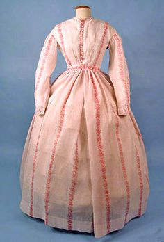 Cotton print day dress, ca. 1866. Whitaker Auctions