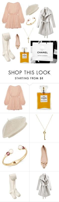 """""""french chic"""" by blackpearlrulez ❤ liked on Polyvore featuring LoveShackFancy, Chanel, Harrods, House of Harlow 1960, Kate Spade, Old Navy, chic, fresh, nude and Berret"""