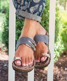 Update your warm-weather looks with this standout sandal that brings a touch of free-spirited flair to your everyday ensemble.Slip-onAdjustable side buckleFoot forming comfort featureSuede / man-made upperTextile liningEVA soleImported