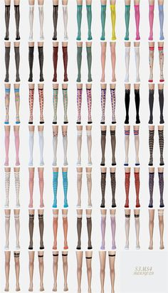 SIMS4 marigold: over knee socks collection_transparent version_unisex_오버 니 삭스 투명한 버전_남녀 양말