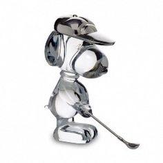 Baccarat Crystal Figurine, Golfing Snoopy