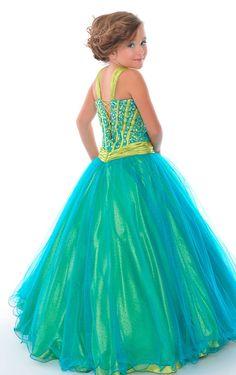 green dresses for 9 year old | Organza Floor-length V-neck Sleeveless Ball Gown Flower Girl Dresses